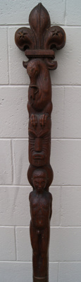 1929 Baden Powell's carved totem