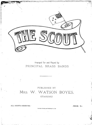 "1900's ""The Scout"" sheet music"
