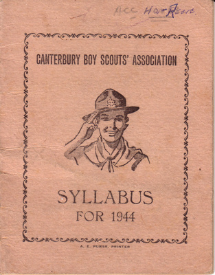 1940's Canterbury Scout Syllabus booklets