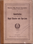 Constitution & Royal Charter and Bye Laws; 1920