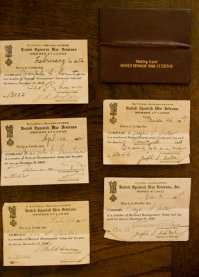 United Spanish War Veterans membership cards; United Spanish War Veterans (estab. 1904, closed 1992); Circa 1930s; XFH.478