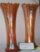 Carnival glass vases; 28.2011