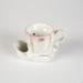 Shaving Mug, White & Pink; Unknown manufacturer; 1920-1930; WY.1979.3