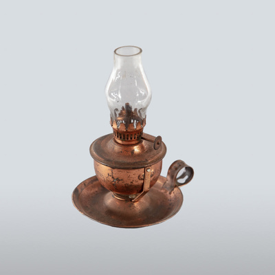 Lamp, Small Copper Oil; Unknown manufacturer; 1870-1920; WY.1993.58.1