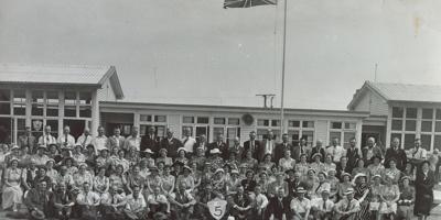 Photograph, Wyndham School 80th Jubilee taken in 1956, 1911-20; Phillips, E.A; 1956; WY.1993.134.13