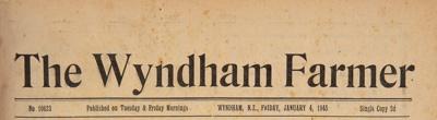 The Wyndham Farmer, 1946 editions; 1946; WY.0000.593