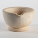 Mortar, Cream Ceramic; Unknown manufacturer; 1900-1950; WY.1996.59.39