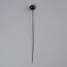 Hat Pin, Brown Bead Head ; Unknown maker; 1950-1960; WY.0000.175