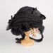 Bonnet, Black with Ruching, Ribbon and Floral Decorations; Unknown maker; 1880-1890; WY.0000.56
