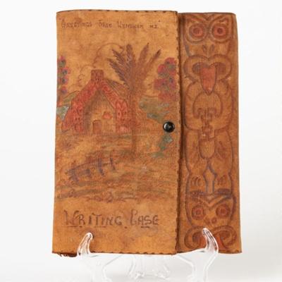 Case, Writing, Māori Design; Unknown maker; Unknown; WY.2017.2
