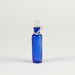 Bottle, Blue Ribbed with Stopper; Unknown manufacturer; 1920-1930; WY.1996.59.18