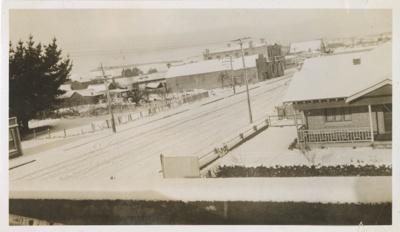 Photograph, Balaclava Street Wyndham in Winter; Unknown photographer; 1930-1940; WY.0000.985