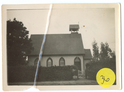 Photograph, Anglican Church Wyndham; Unknown photographer; 1930-1940; WY.1995.19
