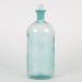 Bottle, Turquoise Glass with Stopper; Unknown manufacturer; 1910-1920; WY.0000.357