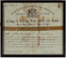 Licence, Trout. Perch and Tench Fishing; New Zealand Crown; 1901; WY.2020.2.3