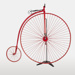 Penny-farthing, Red; Unknown manufacturer; 1880-1900; WY.1997.38