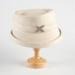 Hat, Cream Felt Hat; Unknown maker; 1950-1960; WY.0000.112