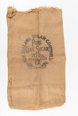 Bag, New Zealand Sugar Company; New Zealand Sugar Company; 1920-1930; WY.0000.508