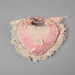 Pincushion, Crocheted Pink Heart; Unknown maker; 1940-1950; WY.2008.15.1