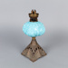 Lamp, Turquoise Base; Unknown manufacturer; 1900-1920; WY.0000.1069