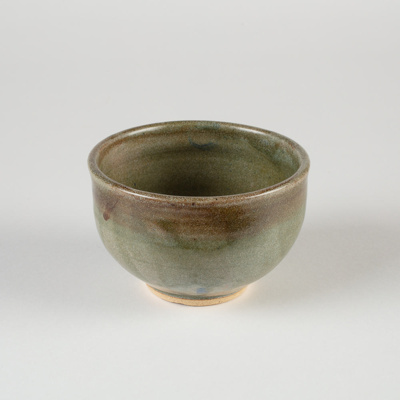 Bowl, Green Ceramic; Shields, Heather; 1950-1960; WY.2007.1.2