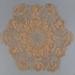 Doily, Crocheted Ecru; Unknown maker; unknown; WY.0000.134