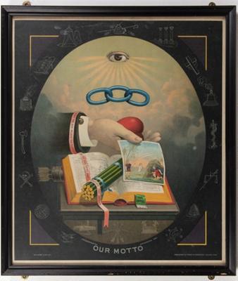 Poster, I.O.O.F Our Motto; Dorrington, J.W; 1883; WY.2013.8.64