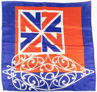Scarf, Commonwealth Games 1974; Unknown manufacturer; 1974; WY.0000.910
