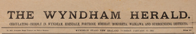 The Wyndham Herald, Editions 1903, 1906, 1915, 1929, 1938; 1903-1938; WY.0000.545