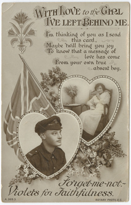 Postcard, Romantic; Unknown printer; 1914-1918; WY.0000.1369