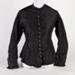 Bodice, Black Silk with Pleated Trim; Unknown maker; 1880-1890; WY.0000.516
