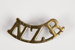 Badge, Military New Zealand Rifle shoulder; Unknown manufacturer; 1914-1918; WY.2000.12.4.24