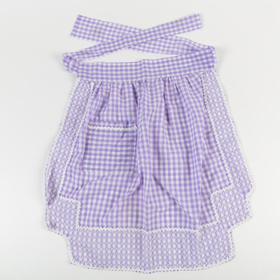 Apron, Lavender and White Gingham  ; Unknown maker; 1960-70; WY.2008.7