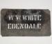 Stencil, 'W.W. WHITE EDENDALE'; Unknown manufacturer; 1927; WY.1995.55