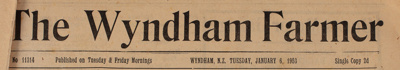The Wyndham Farmer, 1953 Editions; 1953; WY.0000.600