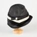 Hat, Black 1950s Women's Hat; Unknown maker; 1950-1960; WY.0000.113