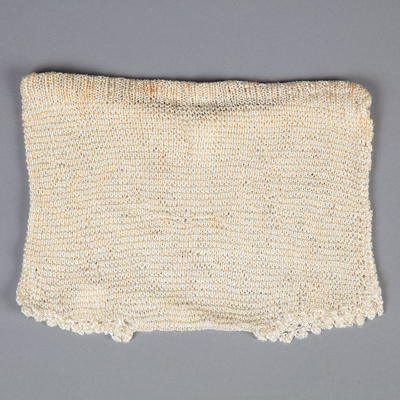 Baby Pilch, Silk Knitted Nappy Cover; Unknown maker; 1925-1930; WY.0000.194