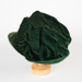 Hat, 1950s Forest Green Hat; Unknown maker; 1950-1960; WY.0000.60