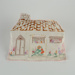 Tea Cosy, Embroidered Cottage; Unknown maker; 1950-1960; WY.2007.17.1