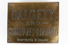 Nameplate, Dalgety; Unknown manufacturer; 1920-1930; WY.0000.759