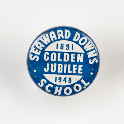 Badge, Seaward Downs School Golden Jubilee 1891-1948; Odell, Chch; 1948; WY.0000.729