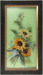 Glass Painting, Framed Sunflowers; Turner, M; 1910-1920; WY.2002.20