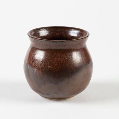 Bowl, Brown Glazed Ceramic; Shields, Heather; 1970-1980; WY.2006.32.8
