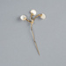 Hat Pin, Mother-of-Pearl Branches; Unknown maker; 1950-1960; WY.1991.78.2