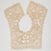 Collar, Ecru Embroidered Lace on Machine Made Net; Unknown maker; 1890-1900; WY.0000.57