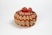 Tea Cosy, Crocheted Chevrons ; Unknown maker; 1950-1960; WY.0000.861
