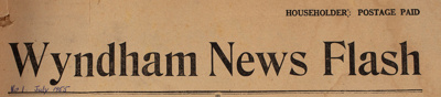 The Wyndham News Flash, 1955-1961 Editions; Necklen, Les; 1955-1961; WY.0000.674