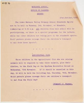 Archives, Memories of Mokoreta; 1859-1968; WY.1993.76.19