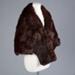 Fur Stole, Brown Mink Shoulder Cape; Mooneys (NZ) ltd; 1950-1960; WY.2009.24