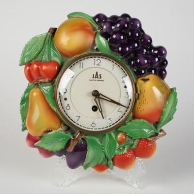 Wall Clock, Ceramic Fruit; Waechtersbach; 1950-1960; WY.0000.698